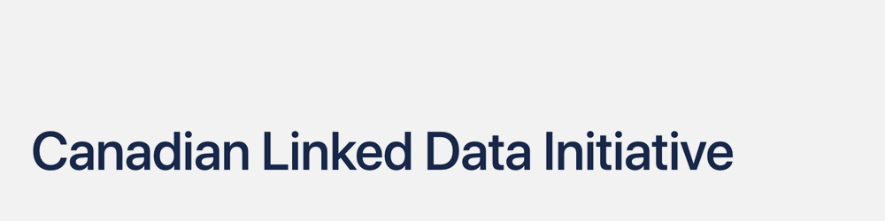 Canadian Linked Data Initiative (CLDI) (2016–)